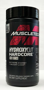 "MuscleTech HYDROXYCUT Hardcore Elite 100 Caps ""New"""