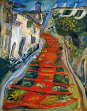 Soutine Chaim The Red Staircase At Cagnes Canvas 16 x 20   #2697