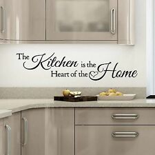 Quote Art The Kitchen is a Heart of the Home Wall Sticker Decal DIY 25X110CM!