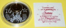 Turkey 1 Coin(gilded)+Medal 40mm, 31g, Proof Like + Zertifikat