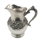 J. E. Caldwell Sterling Silver Pitcher Jug in Art Nouveau Style with Flowers