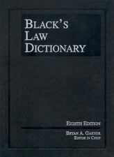 Black's Law Dictionary by Bryan A. Garner  EIGHTH EDITION - FREE PRIORITY SHIP