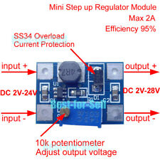 DC-DC Step up Boost Converter 3.3V 5V 9V 12V 2A Adjustable Power Supply Module