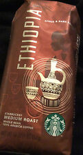 Starbuck's Ethiopia Whole Bean Medium Roast 100% Arabica Coffee 16oz