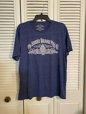 Lucky Brand Shirt  Logo American Dungarees Short Sleeve Blue Mens Size Large