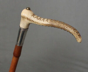 Antique Equestrian Gentleman's Silver Hunting Whip by Brigg London 1903