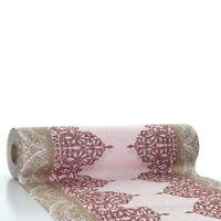Tischläufer Madrid in Bordeaux aus Linclass® Airlaid 40 cm x 24 m - Ornamente