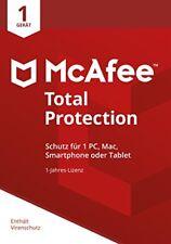 McAfee total Protection Vollversion 1 Gerät 1jahr