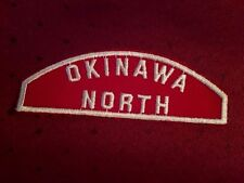 BOY SCOUT RED & WHITE COUNCIL STRIP OKINAWA NORTH