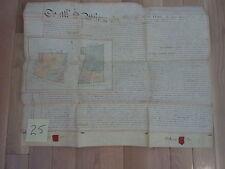 VELLUM DOCUMENT - 1871 – HAND WRITTEN WITH 2 Wax Seals