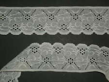"""White lace eyelet scalloped trimming  2 6/8"""" wide x 1 yard"""