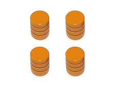 Tire Rim Wheel Aluminum Valve Stem Caps - Orange Color