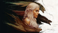 Khaleesi and Dragons - Game Of Thrones - 22 x 34 Inch - Huge 101