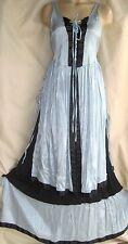victorian dress maxi lace up corset cinch waist layers steampunk renaissance Hot