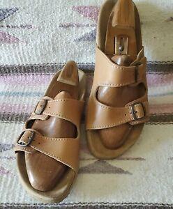 Josef Seibel Mens Two Staps  US 11.5 /12 EUR46  Beige Sandals