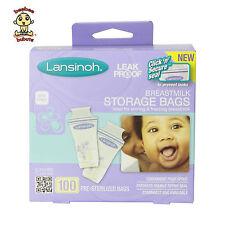 Lansinoh Breastmilk Storage Bags, BPA Free, 100-Count