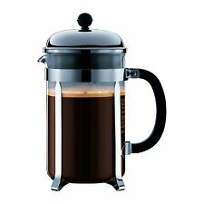 Bodum Chambord 12 cup French Press Coffee Maker, 51 oz, Chrome , New, Free Shipp
