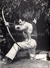 ANTIQUE REPRODUCTION 8X10 PHOTO LEGENDARY LONG BOW ARCHER HOWARD HILL # 2