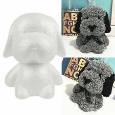 Handmade DIY White Polystyrene Styrofoam Foam Dog Rabbit Modelling Valentine Art
