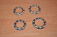 10 St.Stoffösen mit Kristallen,40 mm, Silber Glanz. Ösen. STRASS . Gardinenösen!