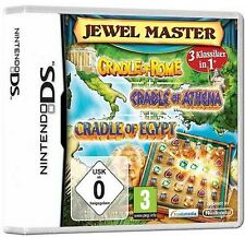 Nintendo DS 3DS CRADLE OF ROME + EGYPT + ATHENA DEUTSCH Jewelmaster GuterZust.