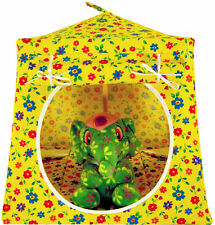 Yellow, flower print Toy Play Camping Pop Up Tent, 2 Sleeping Bags, handmade