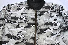 Vintage Avirex 75 Camoflage Black & Gray Reversable Bomber Jacket  Size 2XL