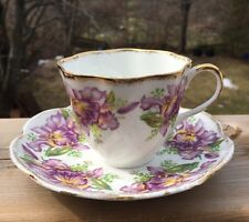 "Salisbury ""Garland"", Fine Bone China, Tea Cup & Saucer Vintage"