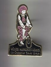 RARE PINS PIN'S .. ART CIRQUE CIRCUS CLOWN VELO BIKE LA CHAPELLE ST URSIN 18 ~DA