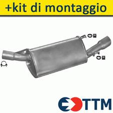 OPEL TIGRA COUPE 1.4 1.6 89/104HP 1994-1997 Silenziatore Marmitta Posteriore+