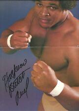 EB1150  Butch Reed signed Wrestling Magazine  Poster w/ COA  **BONUS**
