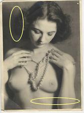 18x13cm Orig Foto Frau Kette Nackt Akt Model Pose photo