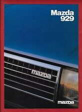Mazda 929 Sedan 6 Page Brochure with flap January 1982