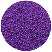 Lot of 2500pcs DIY 11/0 Rocaille 1.8mm Small Round Glass Seed Beads purple
