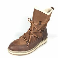 White Mountain Topaz Women's Size 7 M Brown Leather Winter Boots.