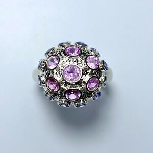 Natural Pink sapphire 925 Silver / 9ct 14k Gold / Platinum engagement ring
