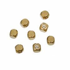 50 Perles Cube 3mm Doré Metal Perle intercalaire Creation Bijoux ...