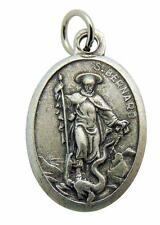 Saint Bernard Medal 3/4 Inch Metal Catholic Saint Pendant Gift Made in Italy