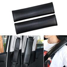 2PCS Universal Carbon Fiber Car Safety Seat Belt Cover Shoulder Pads Cushion Kit
