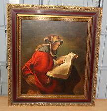 Lajovic * Bild Öl-Gemälde * Mutter Rembrant * 60x50cm Replik Gerahmt * 9052