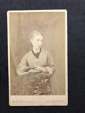 Victorian Carte De Visite CDV: Lady: Tuck & Co: London: Holding Fan