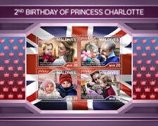 Maldives 2018 MNH Princess Charlotte Prince William & Kate 4v M/S Royalty Stamps