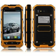 Orange Land Rover A8+ Rugged Android Quad Core IP67 Waterproof GPS Smart Phone