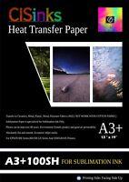 "100 Sheets (13"" × 19"") Sublimation Ink Heat Transfer Paper Inkjet Printer Press"