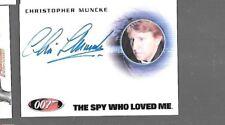 Patrick Bauchau James Bond full bleed autograph card Rittenhouse 007 SCARPINE