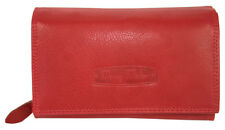 Leder Damen Geldbörse Großes Portemonnaie Brieftasche für Frauen viel Strauraum