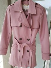 Womens blush pink trench coat size 6 Forever New brand in excellent condition