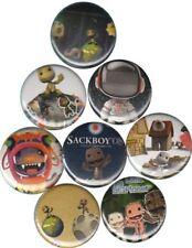 Little Big Planet: Set of 8 Buttons-Pins-Badges *Sackboy*