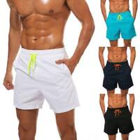 Men's Beach Quick Dry Waterproof Drawstring Shorts Suit Swim Trunks with Pockets