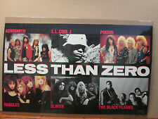 Vintage 1987 Less Than Zero original rock band music artist posters 9939